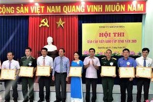 PC Khánh Hòa tham gia Hội thi Báo cáo viên giỏi cấp tỉnh năm 2019