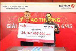 Kết quả Vietlott: Khách hàng ngoại quốc trúng Jackpot hơn 26 tỷ đồng