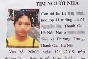 Đã tìm thấy nữ sinh lớp 11 'mất tích' trên đường đi học về