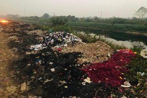 Huyện Thường Tín: Ô nhiễm không khí do đốt vải vụn