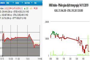 Nhiều cổ phiếu lớn bị bán mạnh, thị trường giảm điểm