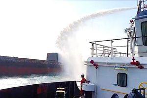 Cháy tàu hàng trên biển Vũng Tàu