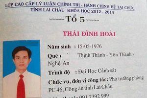 Trưởng phòng Cảnh sát Kinh tế Lai Châu dùng bằng giả: Từng được quy hoạch Phó Giám đốc Công an tỉnh
