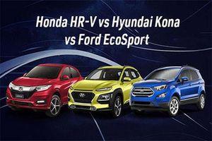 Hyundai Kona, Ford EcoSport, Honda HR-V tiếp tục giảm giá sốc tại Việt Nam