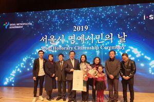 Người phụ nữ Việt Nam đầu tiên nhận danh hiệu Công dân danh dự Seoul (Hàn Quốc)