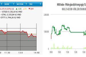 VN-Index lùi về sát mốc 1.010 điểm
