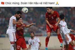 Heerenveen chúc mừng Văn Hậu và đội tuyển Việt Nam sau chiến thắng 'chấn động' châu Á