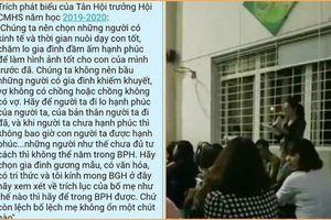 Phát ngôn kỳ thị người nghèo, người đơn thân, bà trưởng ban phụ huynh trường Chu Văn An lên tiếng xin lỗi