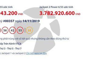 Kết quả xổ số Vietlott Power 6/55 ngày 16/11: 'Nổ' hơn 62 tỉ đồng?