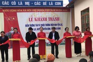 Khánh thành trường học vùng biên giới Cao Bằng