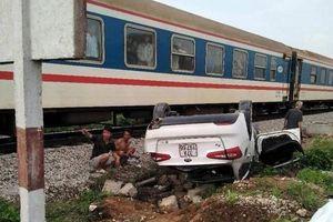 Ô tô bị tàu hỏa tông khiến nữ tài xế tử vong