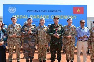 Liên Hợp Quốc trao tặng Huy chương vì sự nghiệp Gìn giữ hòa bình cho các 'sứ giả' của Việt Nam