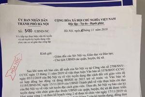 Lạ lùng 2 văn bản 'hỏa tốc' dừng rồi lại tuyển giáo viên của Hà Nội