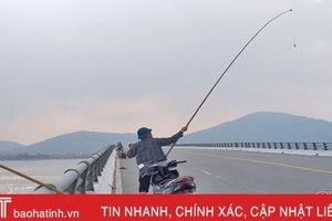 Câu cá trên cầu - nguy hiểm cho mình, mất an toàn người khác