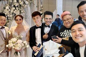 Ngô Kiến Huy, Quang Vinh, Mia và NSƯT Thanh Bạch rạng rỡ đến dự đám cưới Bảo Thy