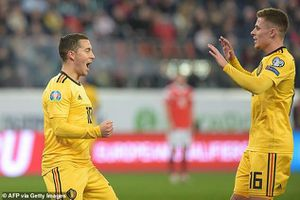 Vòng loại Euro 2020: Anh em nhà Hazard cùng nhau tỏa sáng