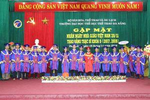 Thứ trưởng Tạ Quang Đông: Trường Đại học TDTT Đà Nẵng phải đổi mới mạnh mẽ nội dung chương trình đào tạo gắn với thực tiễn