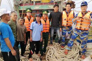 Cứu thành công tàu cá bị nạn cùng sáu thuyền viên