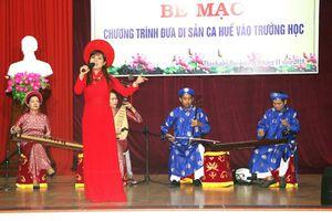 24 giáo viên THCS đầu tiên được giảng dạy di sản ca Huế