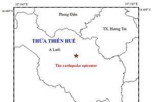 Xảy ra động đất 3,3 độ Richter ở Thừa Thiên Huế