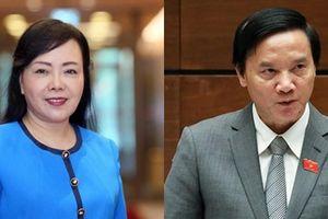 Quốc hội bỏ phiếu kín miễn nhiệm hai nhân sự