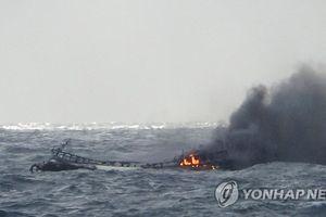 6 thuyền viên Việt mất tích trong vụ cháy tàu ngoài khơi đảo Jeju
