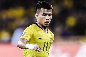 Safawi Rasid sút phạt mở tỷ số cho Malaysia trước Indonesia