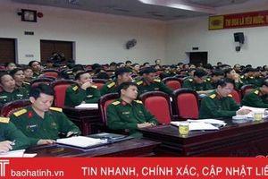 Đảng ủy Quân sự Hà Tĩnh triển khai công tác chuẩn bị đại hội Đảng các cấp