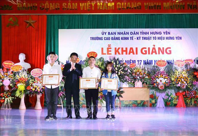 Trường Cao đẳng Kinh tế - Kỹ thuật Tô Hiệu Hưng Yên khai giảng năm học mới