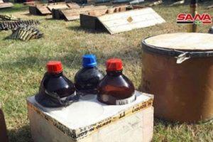 Bất ngờ phát hiện căn cứ chứa đầy vũ khí hóa học của phiến quân ở Syria