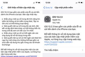 Apple tiếp tục tung bản vá lỗi iOS 13.2.3