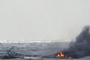 Tìm kiếm 6 thuyền viên Việt Nam mất tích trong vụ cháy tàu cá tại Hàn Quốc