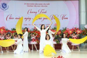 Tưng bừng không khí cô trò tiểu học chào đón ngày Nhà giáo Việt Nam 20-11