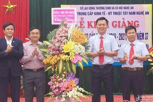 Trường Trung cấp kinh tế kỹ thuật Tây Nam Nghệ An khai giảng các lớp trung cấp nghề