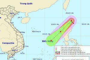 Bão Kalmaegi đang hướng vào Biển Đông, sức gió mạnh cấp 11, giật cấp 13