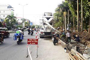Khẩn trương thi công mở rộng đường Nguyễn Tri Phương