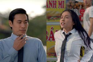 Bị Kiều Minh Tuấn hiểu lầm là nam, Khả Như phải cởi tóc giả và khoe ngực để chứng minh là phụ nữ