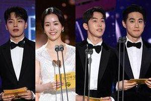Nam Joo Hyuk sánh đôi với Krystal, Han Ji Min - Suho (EXO) bừng sáng trên sân khấu 'Rồng xanh 2019'