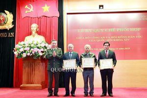 Phó Chủ tịch Thường trực Quốc hội Tòng Thị phóng dự Lễ ký Quy chế phối hợp giữa Hội đồng Dân tộc và Bộ Công An