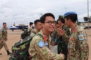 Các chiến sĩ mũ nồi xanh Việt Nam đã có mặt tại Nam Sudan