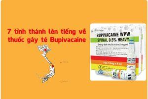 7 tỉnh, thành lên tiếng về thuốc gây tê Bupivacaine