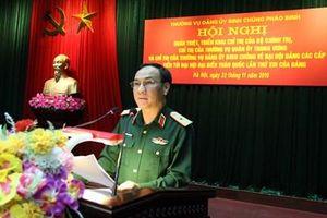 Thường vụ Đảng ủy Binh chủng Pháo binh tổ chức quán triệt, triển khai các chỉ thị về đại hội Đảng các cấp