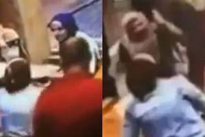 Người phụ nữ mang thai vô cớ bị đấm đá tới tấp giữa quán cafe