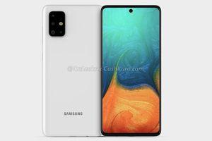 Bản render Samsung Galaxy A71: cụm bốn camera hầm hố và màn hình Infinity-O AMOLED