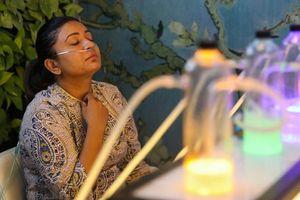 Cận cảnh quán bar Ấn Độ cung cấp Oxy tinh khiết, ứng phó với ô nhiễm