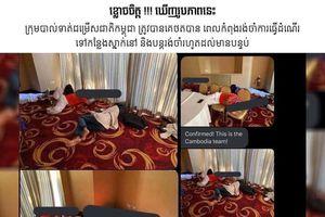 Công tác tiếp đón yếu kém của nước chủ nhà SEA Games 30: U22 Campuchia đợi 12 tiếng ở sân bay, nằm ngủ vạ vật trên thảm vì hết phòng khách sạn
