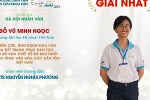 Sinh viên Đại học Mỹ thuật Việt Nam xuất sắc giành giải Nhất cuộc thi Euréka 2019 lĩnh vực Xã hội và Nhân văn
