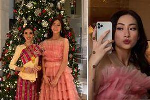 Đến muộn, Lương Thùy Linh vẫn chiếm sóng nhờ chiếc váy công chúa với tông màu 'chiến lược' ở Miss World