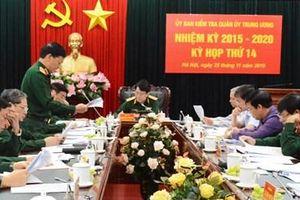 Kỳ họp thứ 14 Ủy ban Kiểm tra Quân ủy Trung ương