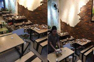 Tường nhà hàng đổ sập, 4 người ở Huế nhập viện
